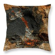 Fire In The Rock. Throw Pillow
