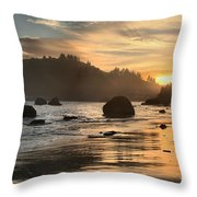 Fire In The Sand Throw Pillow by Adam Jewell