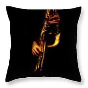 Fire In The Sax Throw Pillow