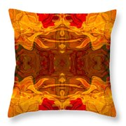 Fire In The Sky Abstract Pattern Artwork Throw Pillow