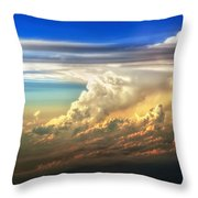 Fire In The Sky From 35000 Feet Throw Pillow by Scott Norris