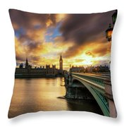 Fire In The Sky Throw Pillow by Yhun Suarez
