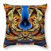 Fire In Wood Throw Pillow