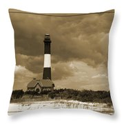 Fire Island Light In Sepia Throw Pillow