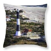 Fire Island Lighthouse 2  4389 Throw Pillow