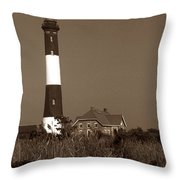 Fire Island Lighthouse Throw Pillow by Skip Willits
