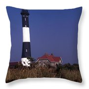 Fire Island Ny Lighthouse Throw Pillow