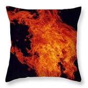 Fire Man Throw Pillow