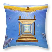 Fire Of Life Throw Pillow by Teresa Gostanza