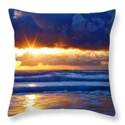Fire On The Horizon Throw Pillow