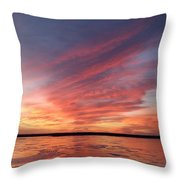 Fire On The Lake Throw Pillow