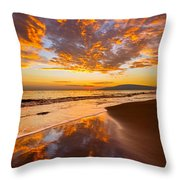 Fire Over Lahaina Throw Pillow