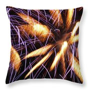 Fire Palms Throw Pillow