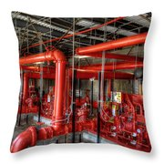 Fire Pump Throw Pillow