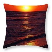 Fire Red Sunset Throw Pillow
