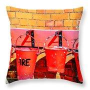 Fire Safety Throw Pillow