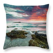 Fire Sky Explosion Throw Pillow
