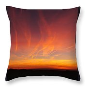 Fire Sky Throw Pillow
