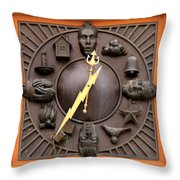 Fire Station Clock Throw Pillow