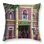 Fire Station Main Street Disneyland 01 Throw Pillow