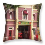 Fire Station Main Street Disneyland 02 Throw Pillow