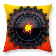 Fire Storm Throw Pillow