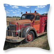 Fire Truck International Harvester C. 1946 Throw Pillow