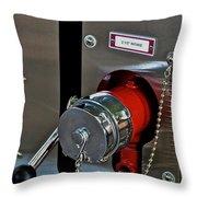 Fire Truck Water Intake Throw Pillow