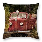 Fire Truck With Texture Throw Pillow