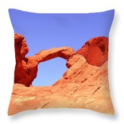 Fire Valley Arch Throw Pillow
