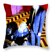 Fire Walk With Me Throw Pillow by Ludzska