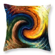 Fire Water Throw Pillow by Anthony Morris