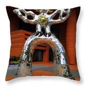 Firebird At Bechtler Throw Pillow