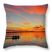 Firecracker Sunset Throw Pillow
