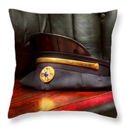 Firefighter - Hat - The Ex Chiefs Hat Throw Pillow by Mike Savad