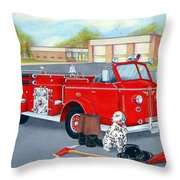 Firefighter - Still Life Throw Pillow