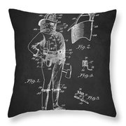 Firefighter Uniform Patent 1905 Throw Pillow