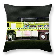 Firefighters Christmas 2 Throw Pillow