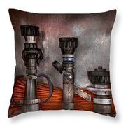 Firefighting - One For Everyone Throw Pillow by Mike Savad