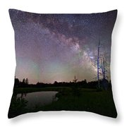 Fireflies Under The Stars Throw Pillow