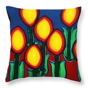 Fireflowers Throw Pillow