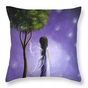 Original Fairy Art By Shawna Erback Throw Pillow