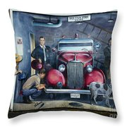 Firehall Mural Sultan Washington 1 Throw Pillow