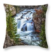 Firehole Falls Throw Pillow