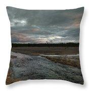 Firehole Lake Drive Sunrise - Yellowstone Np Throw Pillow