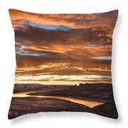 Firehole Sunset Throw Pillow