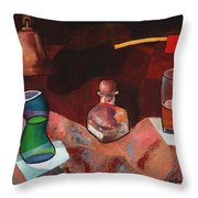 Firehouse Pub In Brown Throw Pillow