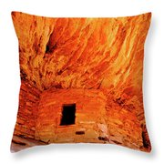 Firehouse Ruins Throw Pillow