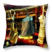 Fireman - Boots And Fire Gear Throw Pillow