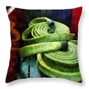 Fireman - Coiled Fire Hoses Throw Pillow